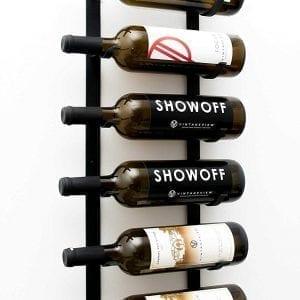 Le Rustique 6 Bottle Wall Mounted Wine Rack Storage with Label Forward Design
